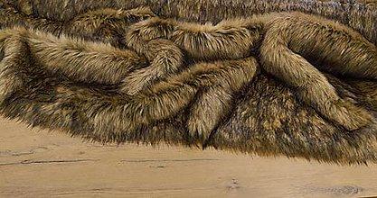 Textil - Kožušina umelá - Lev V - cena za 10 cm - 13678337_