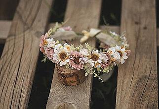 Detské doplnky - Detský kvetinový venček - 13676691_