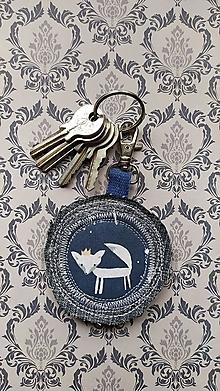 Kľúčenky - Princezná líštička, prívesok na batôžtek - 13676904_