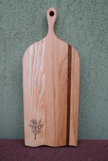 Pomôcky - Drevené denko, podložka - intarzia jaseň a dub - 13676390_