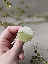 Brošne - keramická brošňa Výhľady (Výhľad na lúku) - 13678073_