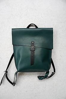 Batohy - kožený batoh_zelený_craft - 13677305_