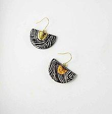 Náušnice - TANA hand made jewellery - keramika/zlato - 13676475_