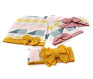 Detské čiapky - Prechodný set (OH: 50-53 - Ružová) - 13678801_