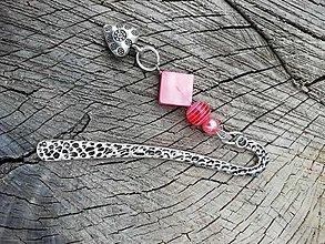 Iné šperky - Záložka do knihy srdiečko - 13676391_