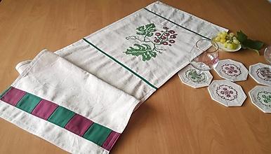 Úžitkový textil - Štóla na jesennú oslavu - sber hrozna - 13677233_