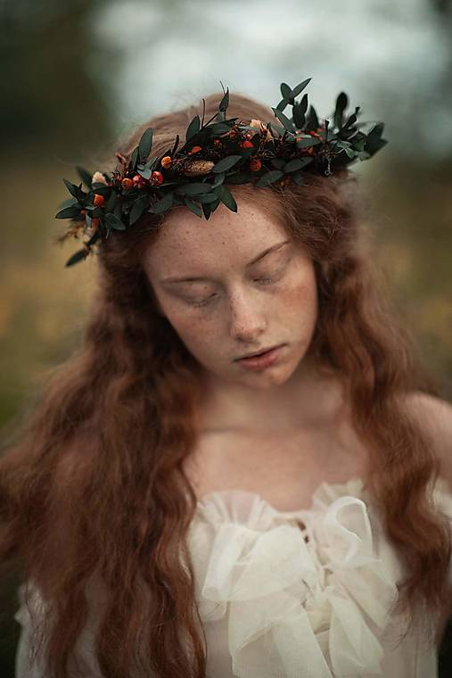"""Kvetinový  venček """"chvíľka ticha"""""""