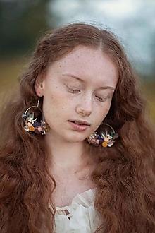 """Náušnice - Kvetinové kruhové náušnice """"spev vetra"""" - 13676857_"""