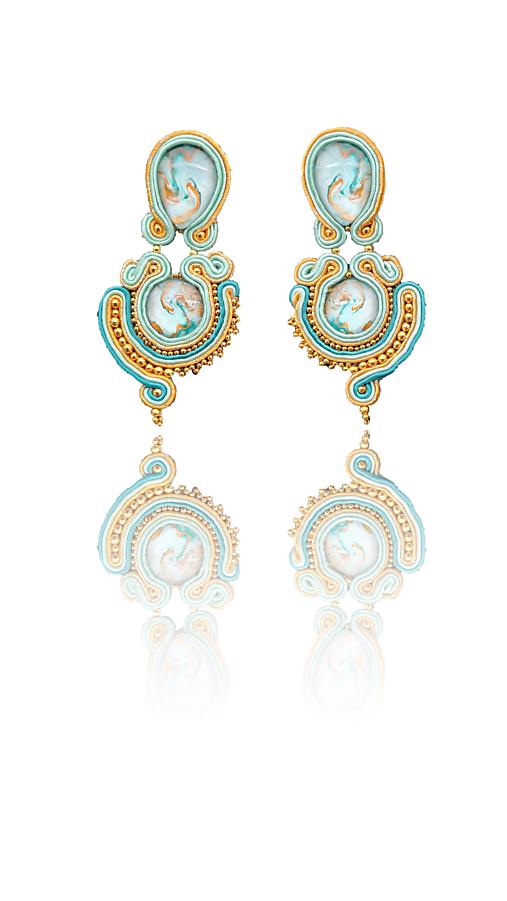 Oáza Handmade soutache náušnice - autorské šperky LEKIDA