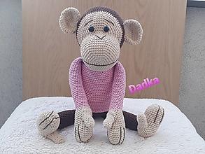 Hračky - Hačkovaná opička 💝 - 13677082_