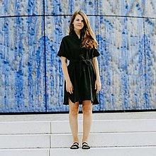 Šaty - Šaty Black Linen Shirts - 13679811_