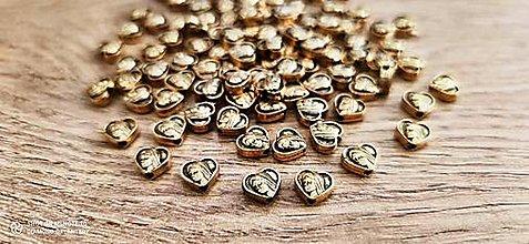 Korálky - Kovová korálka - Panna Mária - 8 mm  (Zlatá) - 13679391_