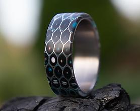Prstene - Skladom Prsteň HONEYCOMB - 13679136_