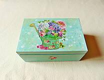Krabičky - Drevená krabička Zo záhradky - 13679611_