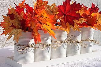 Dekorácie - Jesenná dekorácia na veľký jedálenský stôl alebo na krb - 13681039_