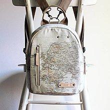 Batohy - Plátený midi batôžtek *Globe* - 13680193_