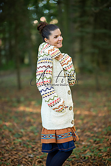 Svetre/Pulóvre - svetro- kabátik Marika - 13679717_