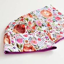 Detské čiapky - ROZPRÁVKOVÝ LES set skladom - 13681463_