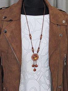 Náhrdelníky - Medený náhrdelník II - 13680091_
