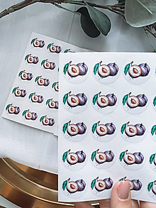 Papiernictvo - Transparentné nálepky na štuple pálenky - Slivka - 13682953_