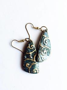 Náušnice - zlatý ornament - 13682107_