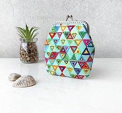 Peňaženky - Peňaženka M Farebné trojuholníky - 13683575_