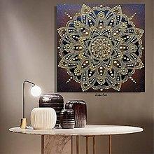 Dekorácie - OSOBNÁ MANDALA na mieru podľa dátumu narodenia a mena❤️energetický obraz,originálny dar k narodeninám - 13682230_
