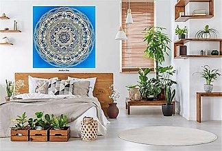 Dekorácie - PARTNERSKÁ MANDALA LÁSKY a ŠŤASTNÉHO ŽIVOTA❤️ energetický feng shui obraz,talizman,originány dar - 13682240_
