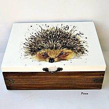 Krabičky - Drevená krabica s priečinkami -ješko - 13688027_