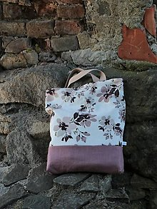 Nákupné tašky - Taška orchidea ľanová - 13686147_