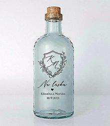 Papiernictvo - Nálepky na svadobné fľaše transparentné erb - 13686992_