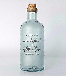 Papiernictvo - Nálepky na svadobné fľaše transparentné simple 2 - 13687001_