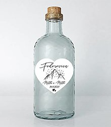 Papiernictvo - Nálepky na svadobné fľaše srdce hory - 13687024_