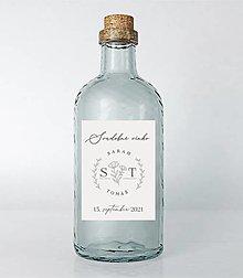 Papiernictvo - Nálepky na svadobné fľaše simple 4 - 13687046_
