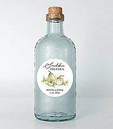 Papiernictvo - Nálepky na svadobné fľaše tekvičky - 13687054_