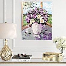 Obrazy - Zátišie s ružami - 13687755_