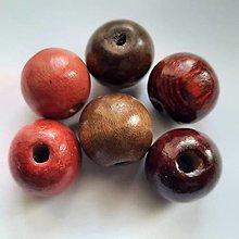 Korálky - Drevené korálky 20mm-1ks - 13687793_