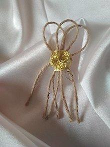 Pierka - vintage pierko-zlatá ružička - 13687669_