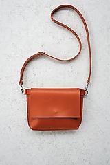 Kabelky - kožená ľadvinka_hnedo-oranžová - 13686721_