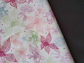 Batohy - Vak dAdKa  (Kvety na ružovej) - 13686198_
