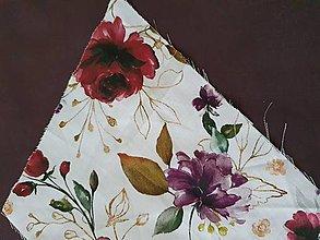 Batohy - Vak dAdKa  (Bordové kvety so zlatou) - 13686204_