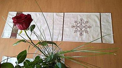 Úžitkový textil - Stredový obrus s výšivkou - farba na želanie - 13686646_