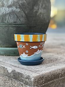 Nádoby - Terakotový kvetináč - Posledná plavba letom - 13686832_