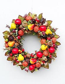 Dekorácie - Jesenný veniec- plody jesene - 13685842_