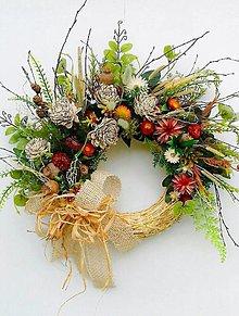 Dekorácie - Jesenný veniec- strapáčik - 13685852_