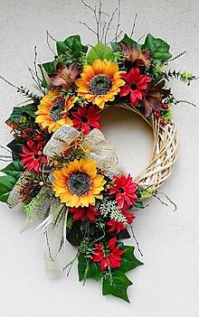 Dekorácie - Jesenný veniec - 13686112_