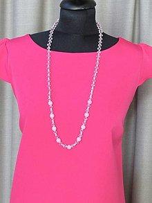 Náhrdelníky - Ružový náhrdelník III - 13686263_