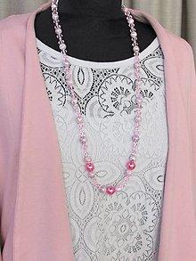 Náhrdelníky - Ružový náhrdelník II - 13686270_