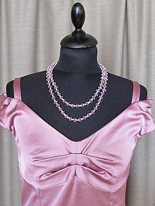 Náhrdelníky - Ružový náhrdelník IV - 13686325_
