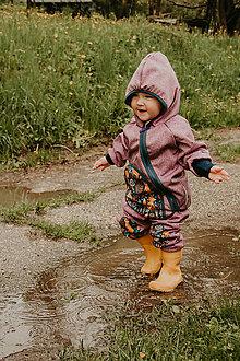 """Detské oblečenie - Softshellka """"líštičky na lúke"""" - 13689133_"""